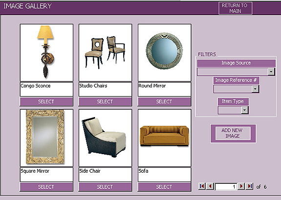 Interior Design FF&E Specification Software Program-Image Gallery