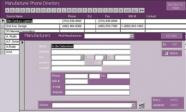 Furniture Specification Software-Spexx-Manufacturer Listing